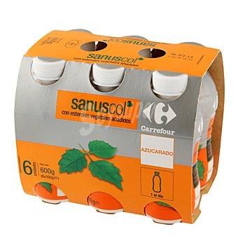 Carrefour Yogur líquido natural azucarado Sanuscol Pack de 6x100 g
