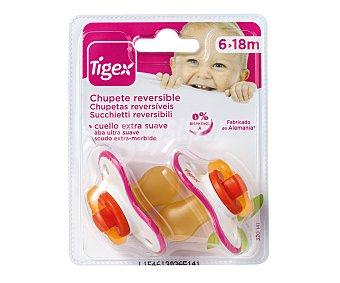Tigex Chupete reversible de latex para niña, tigex