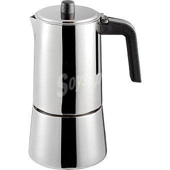 CASACTUAL Cafetera en acero inoxidable para induccion de 10 tazas