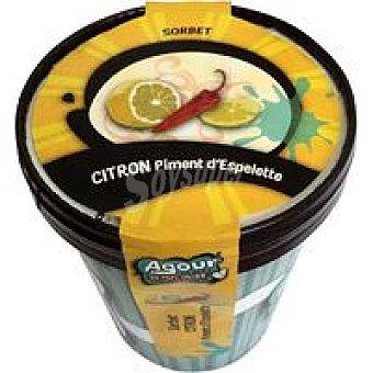 AGOUR Sorbete de limon con pimentón Tarrina 550 ml