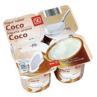 DIA Yogur coco Pack 4 unidades 125 g