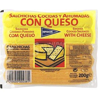 HIPERCOR salchichas con queso bolsa 200 g