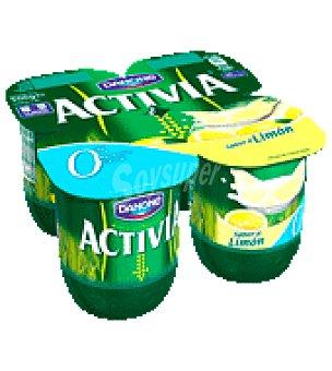 Danone - Activia Activia 0% sabor limón Danone pack de 4x125 g