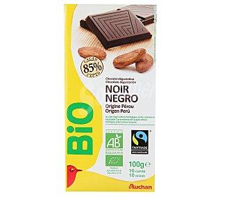 Auchan Chocolate negro ecológico 85% cacao 100 gr