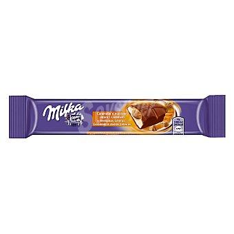 Milka Chocolatina caramelo y avellanas enteras Paquete 45 g