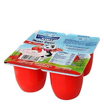 Carrefour Petit fresa maxi Pack de 4x100 g