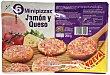 Pizza congelada jamon york queso mini Paquete de 6 unidades Hacendado
