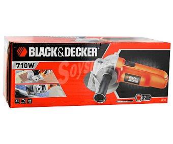 Black&Decker Amoladora de 710 Watios con botón de bloqueo de eje e interruptor central de fácil acceso 1 unidad