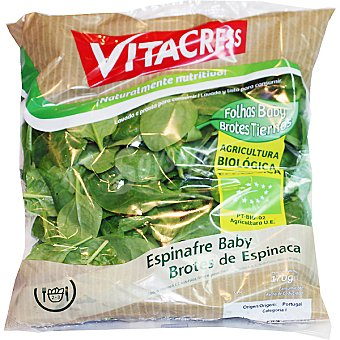 Vitacress Espinacas baby ecológicas Bolsa 170 g