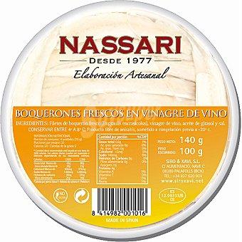 Nassari Boquerones suaves al aroma de ajo Bandeja 100 g