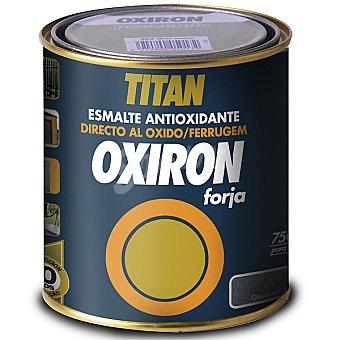 Titan Forja esmalte antioxidante color gris acero Oxiron 750 ml