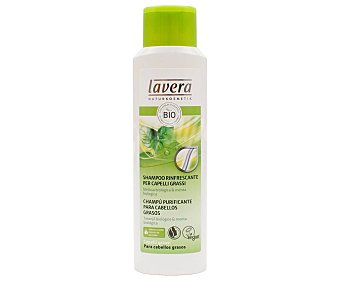 Lavera Naturkosmetik Champú purificante con extacto de melissa y menta bio, para cabellos grasos 250 ml