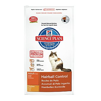 HILL'S SCIENCE PLAN Pienso para gatos adultos Hills Science Plan Hairball Control pollo 2 kg 2 kg
