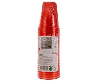 Auchan Vasos rojos 250cc 25 Unidades