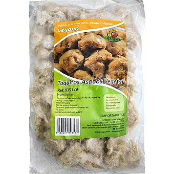 VEGESAN Taquitos vegetales de soja asados envase 500 g Envase 500 g