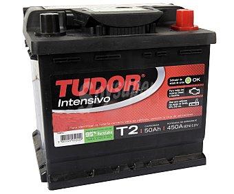 TURDOR Batería de automóvil de 12V y 50Ah, con potencia de arranque de 450 Amperios y medidas de 315x175x175 milímetros 1 unidad