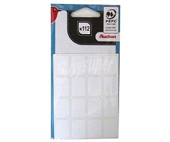 Auchan Bolsa de Etiquetas Adhesivas Blancas 22X16 Centímetos 112u