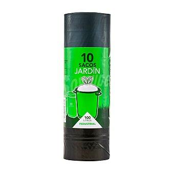 Bosque Verde Bolsa basura saco industrial jardin cierre facil 82 x 105 - bidon grande (verde) - 100 L 10 bolsas