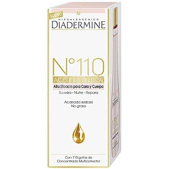 DIADERMINE Nº 110 aceite de belleza alta eficacia para cara y cuerpo suaviza nutre y repara con 110 gotas de concentrado multicorrector frasco 100 ml