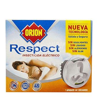 Orion Insecticida eléctrico Respect sólido para mosquito común y tigre (Aparato + recambio) 2 unidades