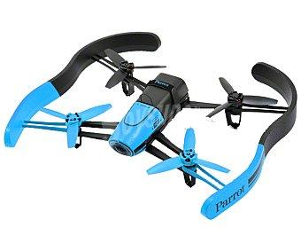 PARROT BEBOP Drones con pilotaje intuitivo viendo el recorrido en primera persona a través de la pantalla de tu dispositivo móvil, Azul, control fpv, uso interior y exterior, visión 180°, cámara 14 Mpx, video Full HD, hasta 13 m/s de velocidad, gps, conexión con Wi-Fi