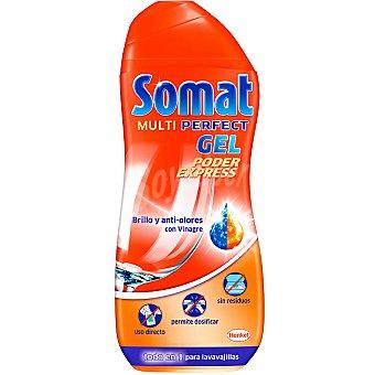SOMAT detergente lavavajillas Multi Perfect gel Poder Expréss brillo y anti-olores con vinagre botella 26 dosis + 5 gratis