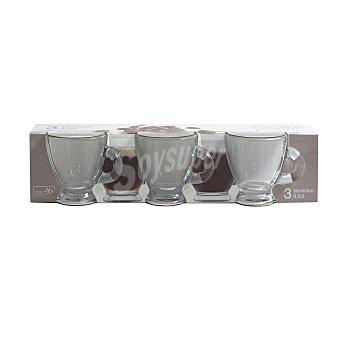 Home Style Taza Café de Vidrio Roma - Transparente 9,5 cl 3 ud