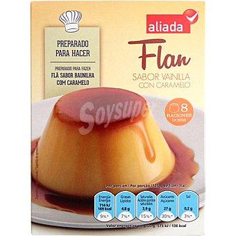 Aliada Preparado para hacer flan sabor vainilla con caramelo 8 raciones Estuche 190 g