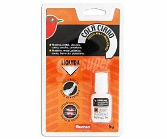 Auchan Adhesivo Instantaneo Transparente. 5 Gramos. 1 Unidad