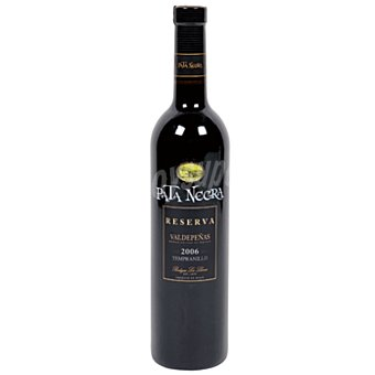 Pata Negra Vino tinto tempranillo reserva con denominación de origen Valdepeñas Botella de 75 centilitros