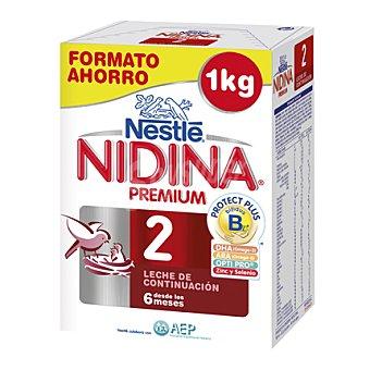 Nestlé - Nidina Leche 2 de continuación en polvo Nestlé pack de 2x500 g