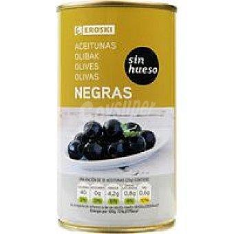 Eroski Aceitunas negras sin hueso Lata 150 g