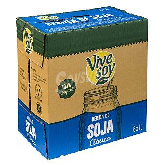 Vivesoy Bebida de soja clásica 100% vegetal Pack 6 briks x 1 l - 6 l