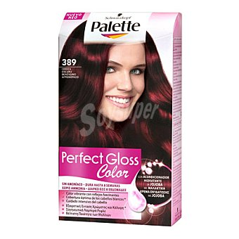 Palette Schwarzkopf Tinte Perfect Gloss Color 389 Cereza Oscuro 1 ud