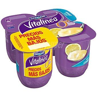 DANONE VITALINEA Yogur desnatado sabor limon pack 4 unds. 125 g
