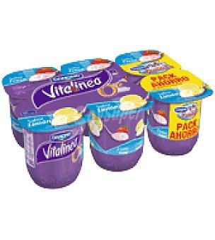 Danone Vitalinea Yogur desnatado fresa / limón Pack de 6x125 g