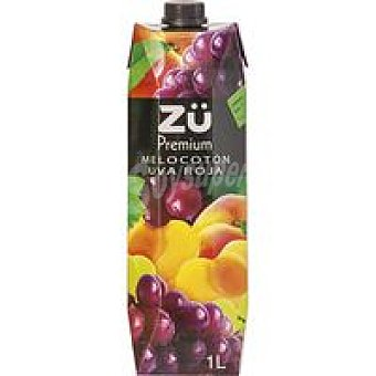 Zü Premium Bebida de melocotón-uva roja Brik 1 litro