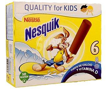 Nesquik Nestlé Polo de chocolate 6 unidades de 40 mililitros