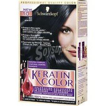 Keratin Color Schwarzkopf Tinte negro N.1 Caja 1 unid