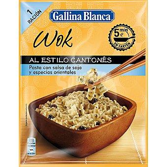 GALLINA BLANCA WOK Pasta con salsa de soja y especias orientales al estilo cantonés Sobre 89 g