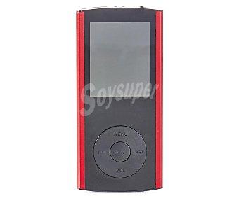 AUCHAN DC-0283 Reproductor MP3 4GB con sintonizador de radio am/fm, color rojo