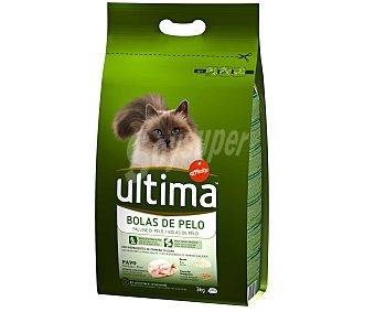 Ultima Affinity Pienso para gatos control bolas de pelo con pavo Bolsa 3 kg