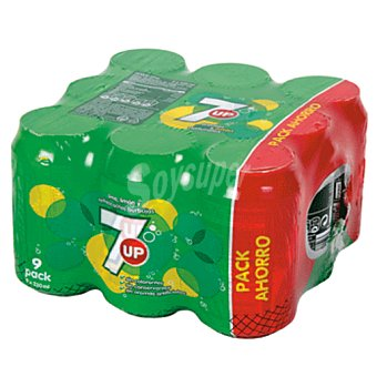 7Up Seven up Pack 9 latas x 33 cl