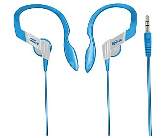 Qilive Auriculares tipo deportivo Q1288 con cable, clip, azul Q.1288