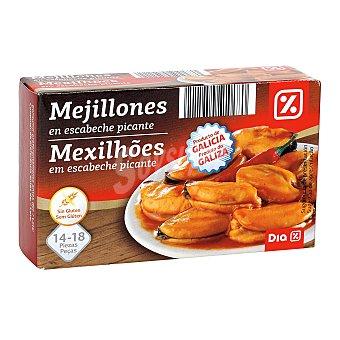 DIA Mejillones en escabeche picante 14/18 piezas Lata 69 grs