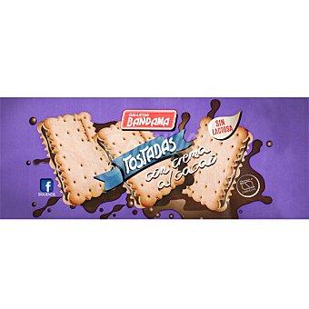 Bandama galletas tostadas rellenas de cacao sin lactosa paquete 200 g
