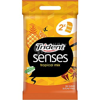 Trident-Senses Chicle tropical mix pack 2x27 gramos