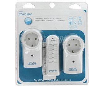 AVIDSEN Kit mando a distancia con dos tomas 1 Unidad