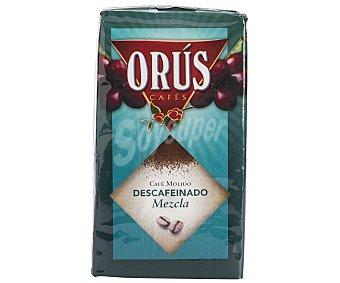 Orus Café Molido Descafeinado Mezcla 50/50 250 Gramos