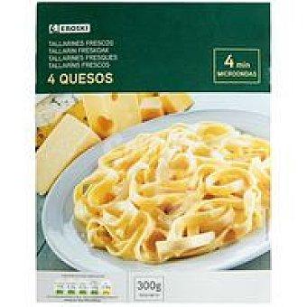 Eroski Tallarines 4 quesos Bandeja 300 g